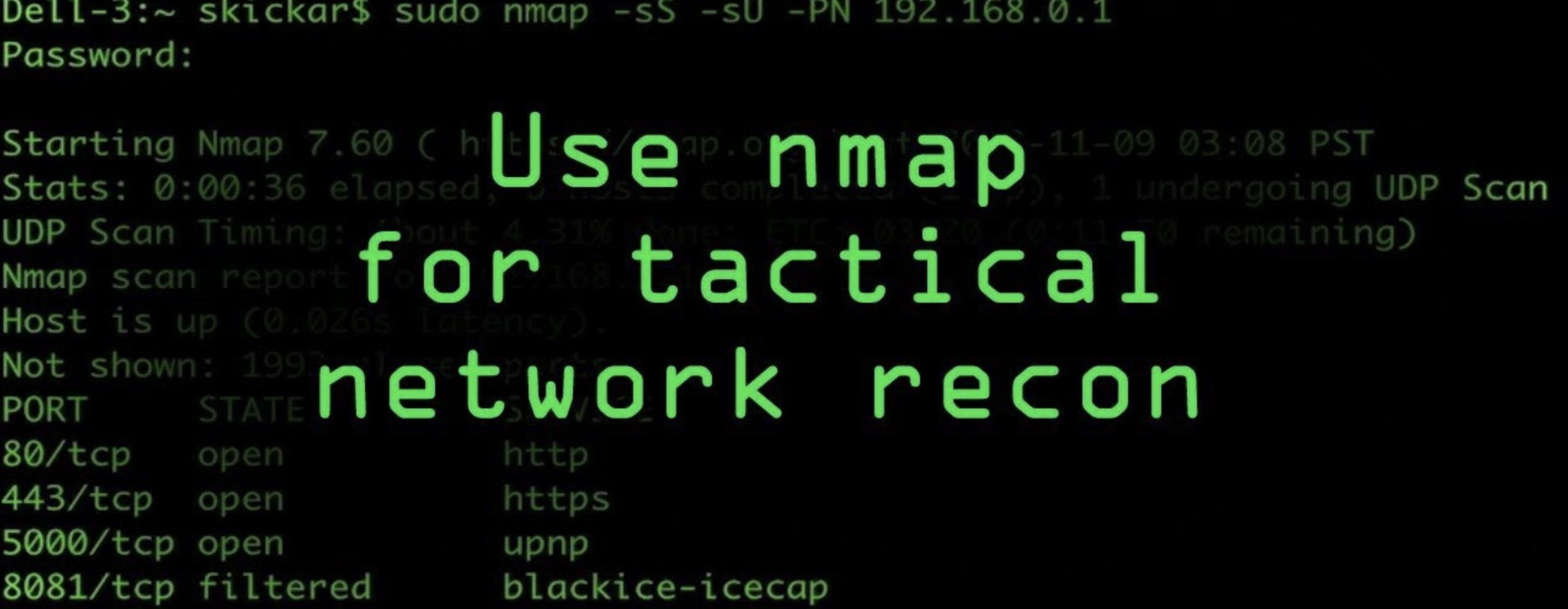 Nmap不老的神器:简约使用教程