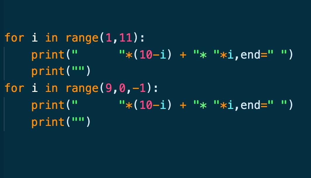 Python循环输出各种图案